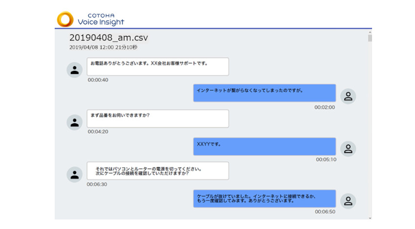 NTT Com、コンタクトセンター向けの音声テキスト化AIサービス「COTOHA Voice Insight」の提供を開始