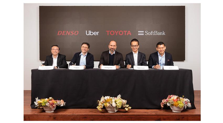 トヨタ、デンソー、SVFが自動運転ライドシェアサービスの開発と展開に向けてUber-ATGに10億ドルを出資