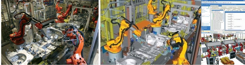 工場のデジタルツイン