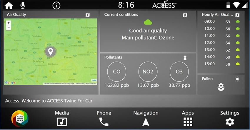 ACCESSとBreezoMeter、走行中の位置情報と連動した大気質と花粉データ提供において協業を発表