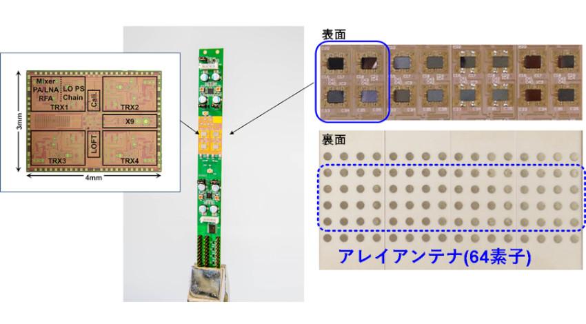 NECと東京工業大学、5G向けミリ波フェーズドアレイ無線機を開発