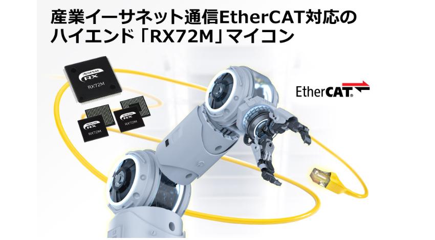 ルネサス、産業イーサネット通信EtherCAT対応の「RX72M」グループを発売