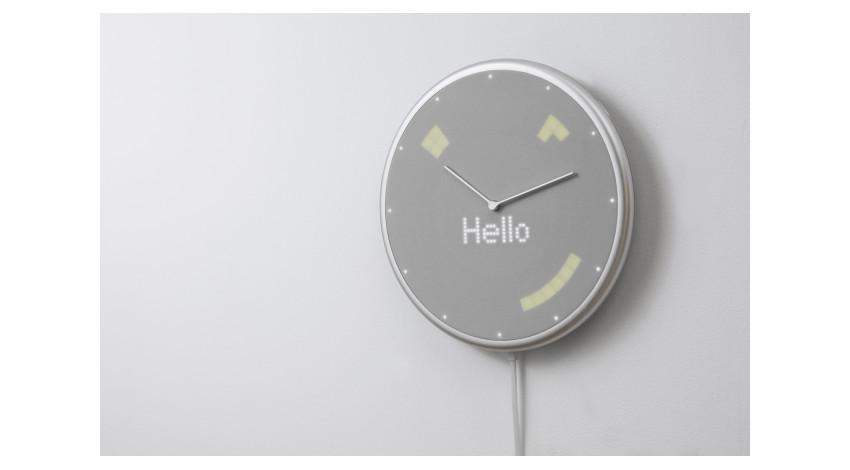 プラススタイル、音やLEDで天気・スケジュール等を通知するスマート掛け時計「Glance Clock」を発売