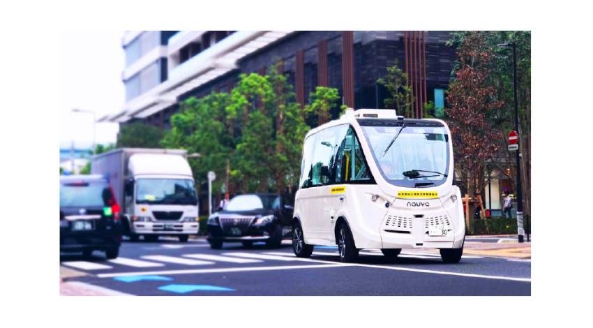 SBドライブ、公道でハンドルがないバス「NAVYA ARMA」の自律走行に向けた実証実験を開始