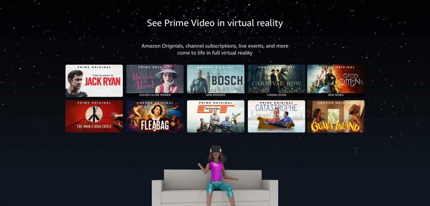 アマゾン Prime VideoがOculusu VRヘッドセットを使いVR視聴可能に