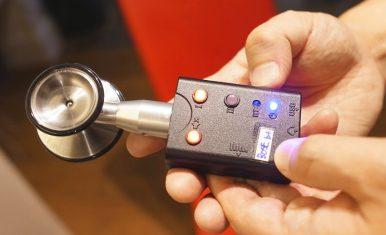 シェアメディカルとSUNDRED、聴診器デジタル化ユニット「ネクステート」を発表