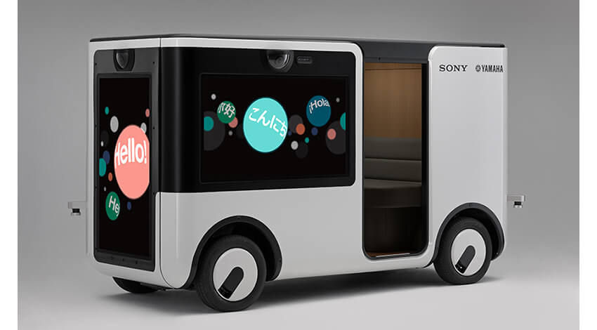 ヤマハ発動機の自動運転技術とソニーのエンターテインメント映像技術を融合、低速車両「SC-1」を共同開発