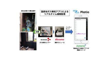 アステリアと仙北市、IoTセンサーを使用した「温泉地ガス検知アプリ」の実証実験を開始