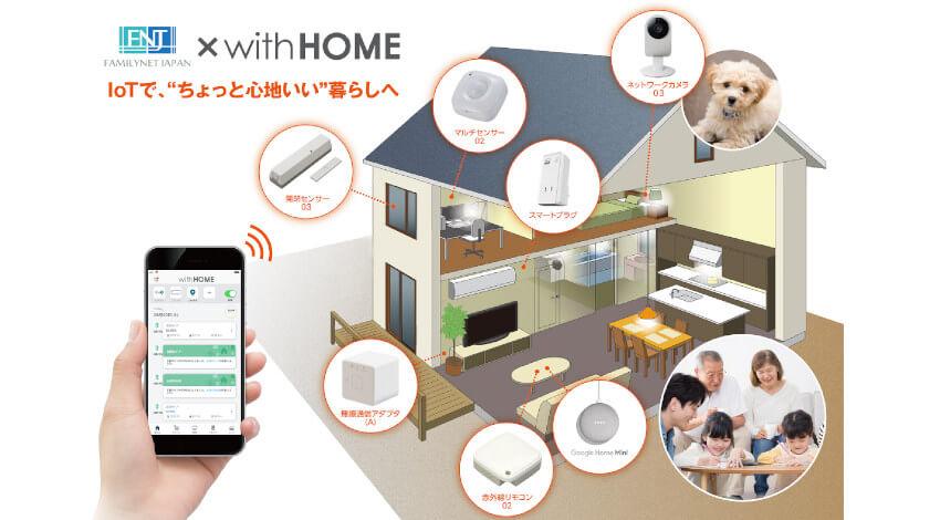 IoTで留守中の自宅を確認できる「ファミリーネット・ジャパン×with HOME」受付開始