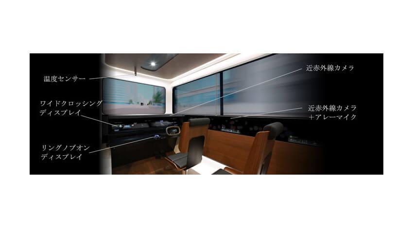 三菱電機、センシング技術とHMI技術を搭載したコンセプトキャビン「EMIRAI S」を開発