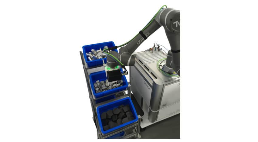 オムロン、画像センサーで対象物の位置を3次元で認識するロボットハンド搭載型3D画像センシング技術を開発