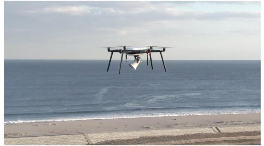 仙台市とノキア、プライベートLTEでノキアドローンの津波避難広報の飛行実証実験を実施