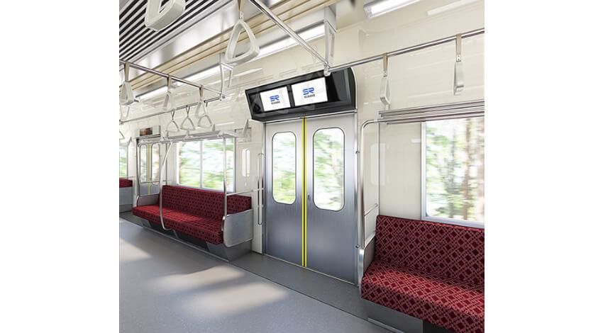 ドコモやビズライト・テクノロジーなど4社、デジタルサイネージを用いて鉄道車両内でのダイナミックDOOH事業を共同で推進