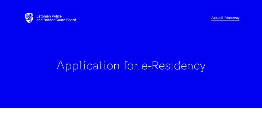 Application for e-Residency