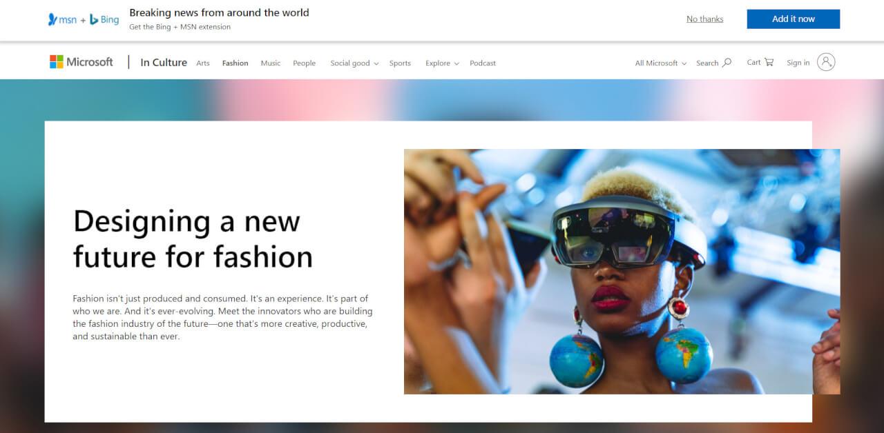 マイクロソフトとファッション