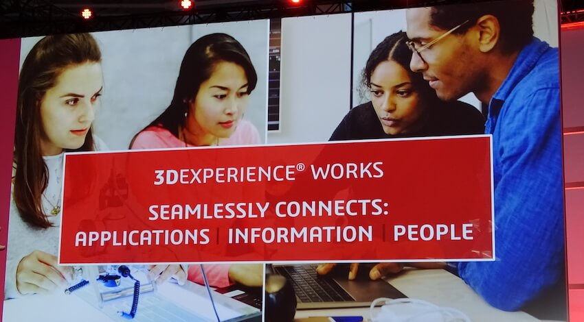 3DEXPERIENCE WORKSはアプリケーション、情報、人をシームレスにつなぐ