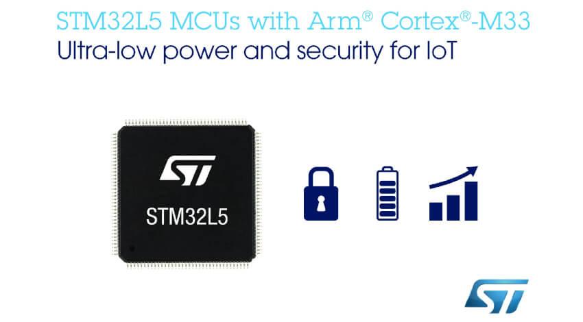 STマイクロエレクトロニクス、IoT端末向けセキュリティ強化で超低消費電力なマイコン「STM32L5」を発表