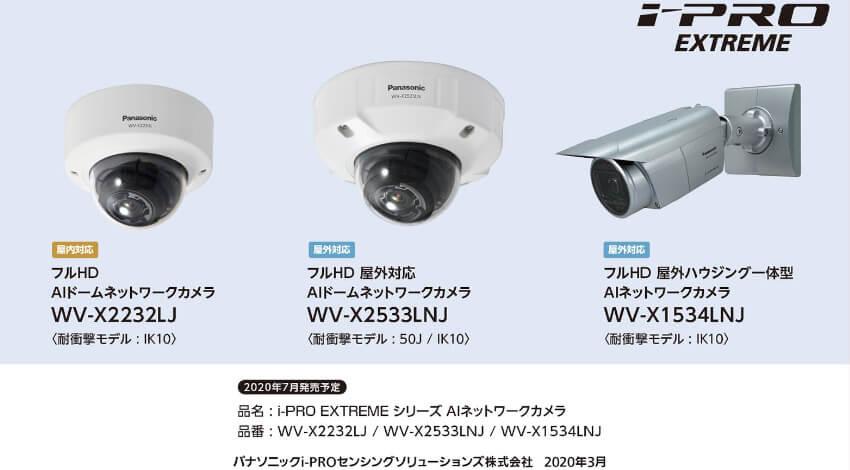 パナソニック、AIネットワークカメラ3機種・拡張ソフトウェア2種を発売
