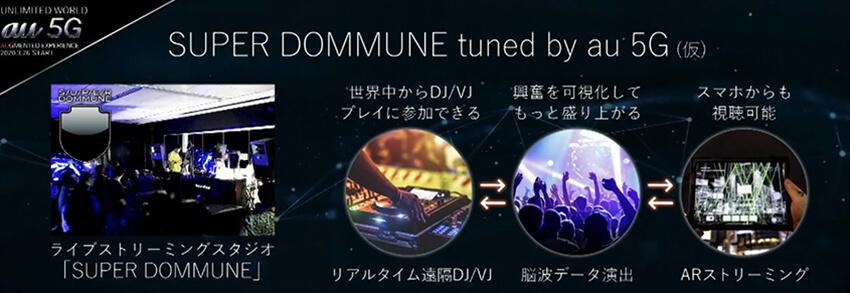 5G技術を使った音楽体験を実験する施設「SUPER DOMMUNE tuned by au」