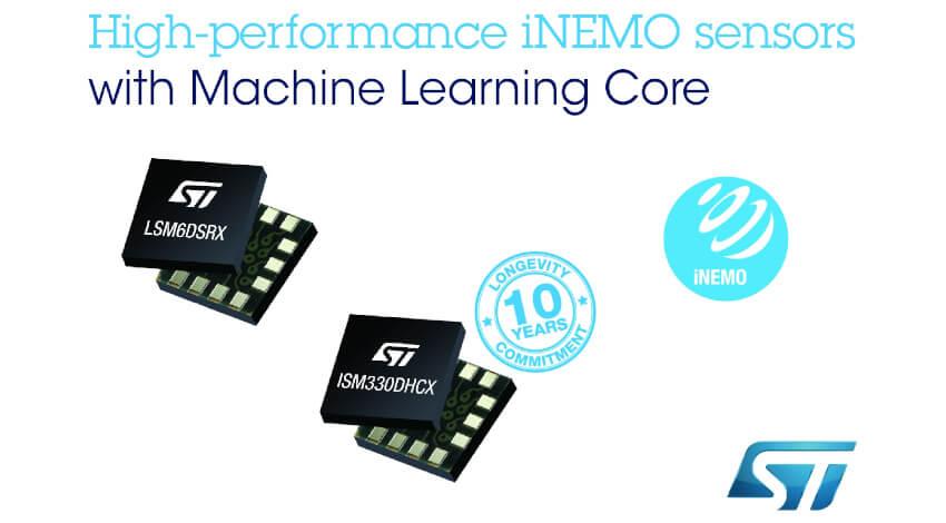 STマイクロエレクトロニクス、産業・コンスーマ機器向け機械学習コア搭載のモーション・センサを発表