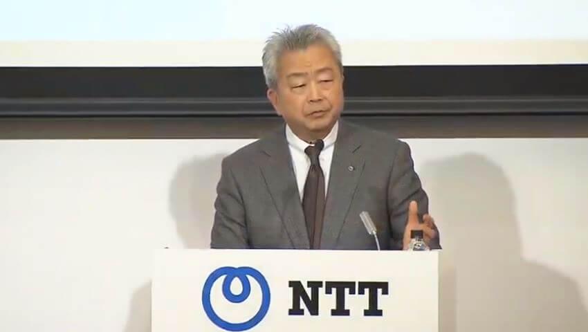 NTT 代表取締役社長 澤田純氏