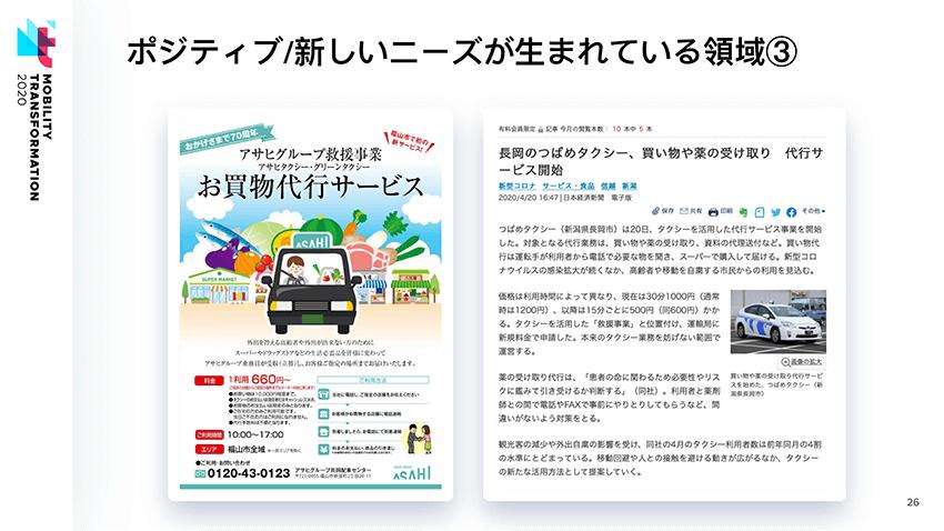 新型コロナウイルスの感染拡大によって、地方の交通会社による、買い物代行サービスが登場した