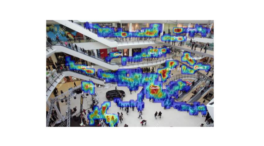 セキュアとモルフォ、防犯カメラの映像からイベント広場での混雑状況を判定する映像解析ソフトウェア「Crowd Counting」を導入開始