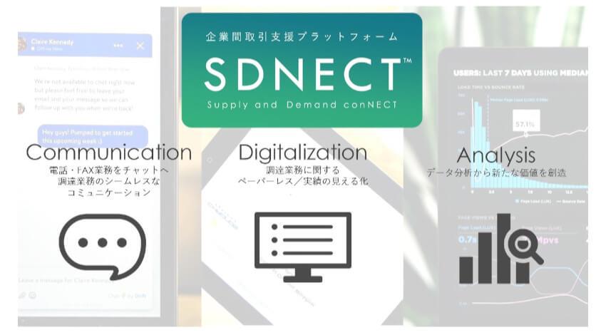 凸版印刷、メール等の調達業務をクラウドで一元化できる企業間調達支援プラットフォーム「SDNECT」を販売開始