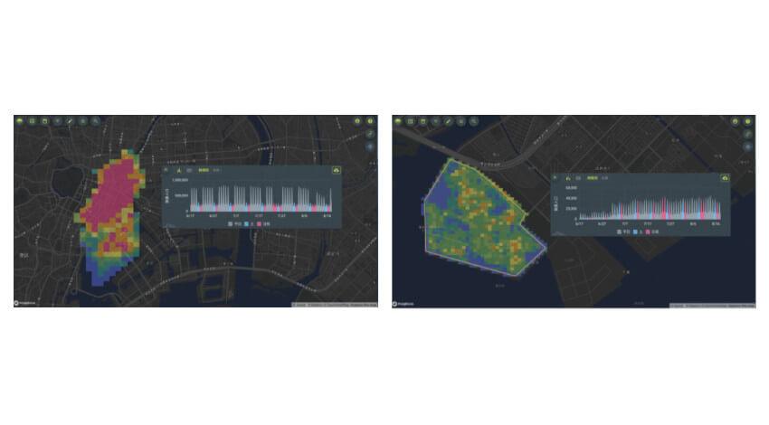 Agoop、人の流れを地図などで可視化するサービス「Kompreno」にメッシュ型流動人口データの閲覧機能を追加