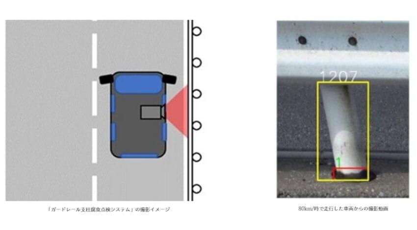 凸版印刷他2社、ディープラーニングによるAI画像解析技術を活用したガードレール支柱の腐食部分を検出するシステムを開発