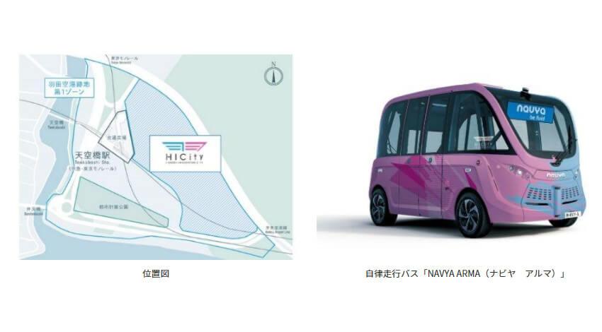 羽田みらい開発・鹿島建設・マクニカ他2社、自律走行バス「NAVYA ARMA」の定常運行を開始