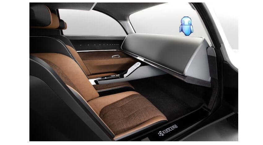 京セラ、光学迷彩技術や独自のデバイスを搭載したコンセプトカー「Moeye」を開発