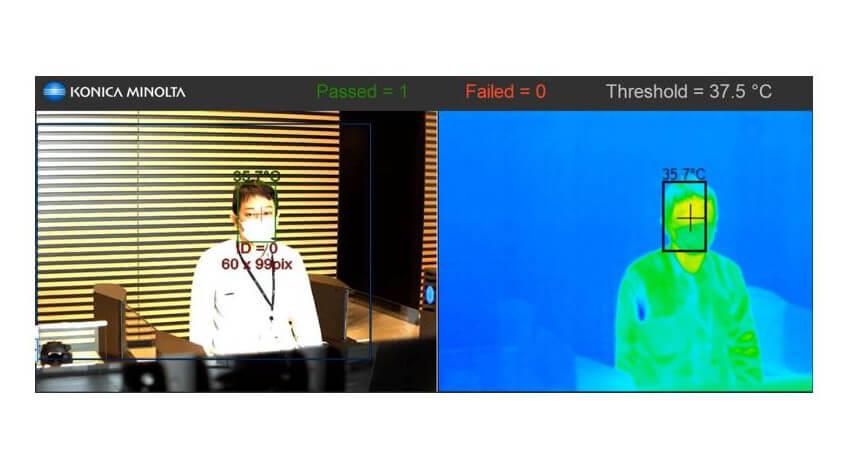 パナソニックとコニカミノルタ、感染症の拡大防止対策を支援する映像監視システムを開発
