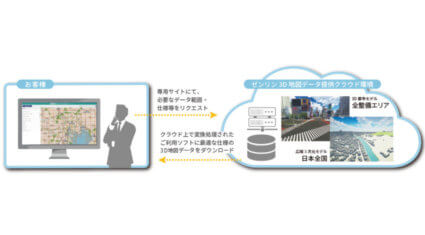 ゼンリン、建設業界のBIM/CIMを支援する「ゼンリン3D地図データオンライン提供サービス」にて3D DXFデータを提供開始