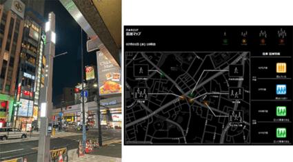 NEC、六本木商店街で混雑状況や消費行動を分析・可視化する実証実験を開始