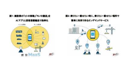 竹中工務店とドコモ、AI運行バスを活用して建設MaaSオンデマンド移動及び搬送の実証実験を開始
