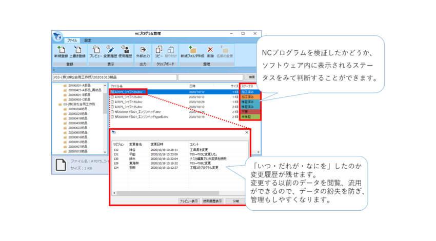 ゴードー、IoTによる工作機械の見える化システム「Nazca Neo Linka」に新機能「NCprogram Manager」を追加