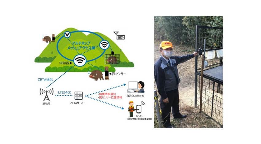 凸版印刷とALSOK、ZETAを用いた罠の遠隔リアルタイム監視システムによる鳥獣被害対策支援サービスの実証実験を開始