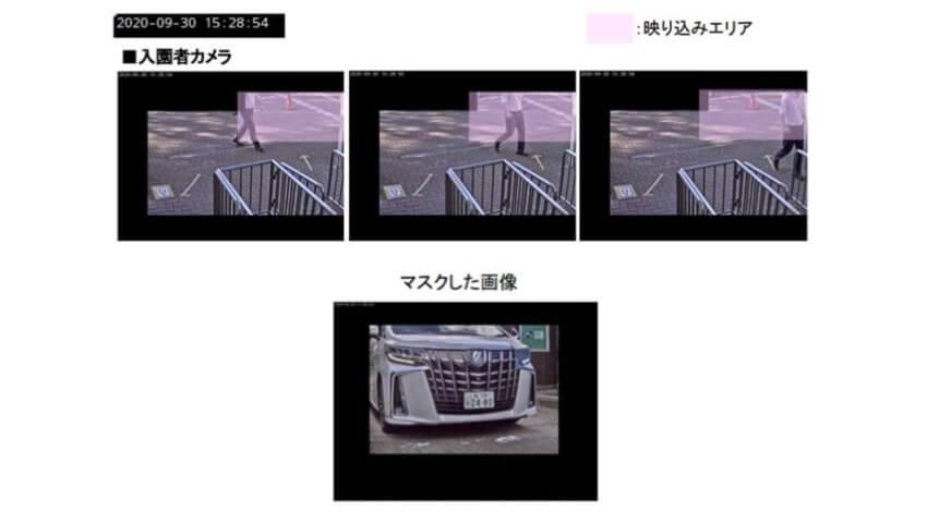 撮影されたくない人への対応として、映り込み範囲をソフトウェアで限定している。