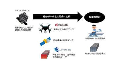 京セラ・アクセルスペース・オーシャンアイズ、人工衛星を活用した漁場予測サービスに関する共同研究を開始