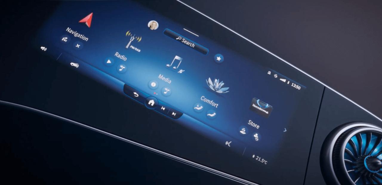 メルセデスベンツ The MBUX Hyperscreen CES2021