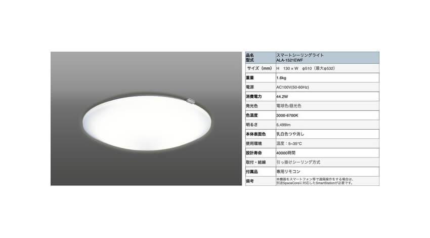 アクセルラボ、各種センサーと家電操作が可能な「スマートシーリングライト」を提供開始