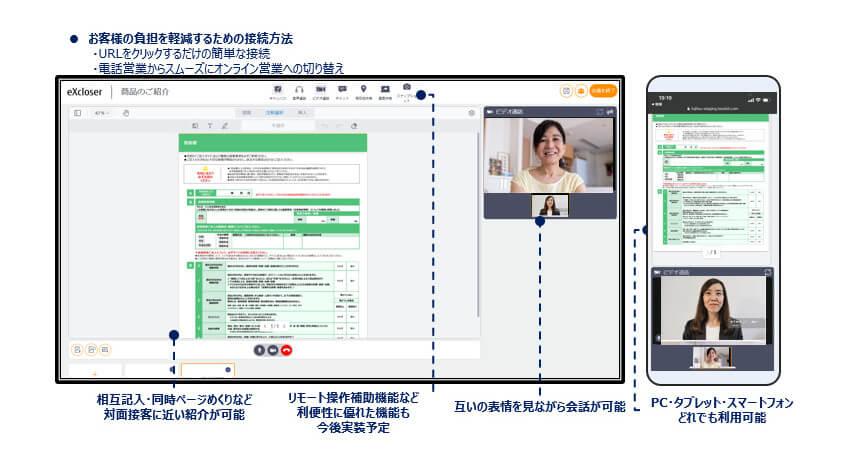富士通、ブラウザのみでオンライン接客を実現する「Finplex eXcloser」を提供開始