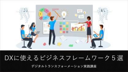 DX戦略を作るのに必須となる、5つのビジネスフレームワーク