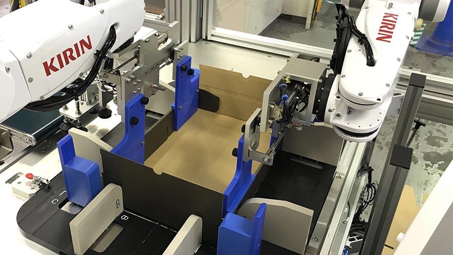 キリンホールディングス、ロボットを活用し「商品詰め合わせ・加工作業」を自動化する実証実験を開始