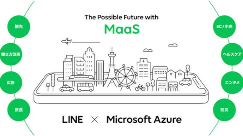 LINE、「Microsoft Azure」のパートナーと全国のMaaSの普及拡大を支援するための共同プロジェクトを開始