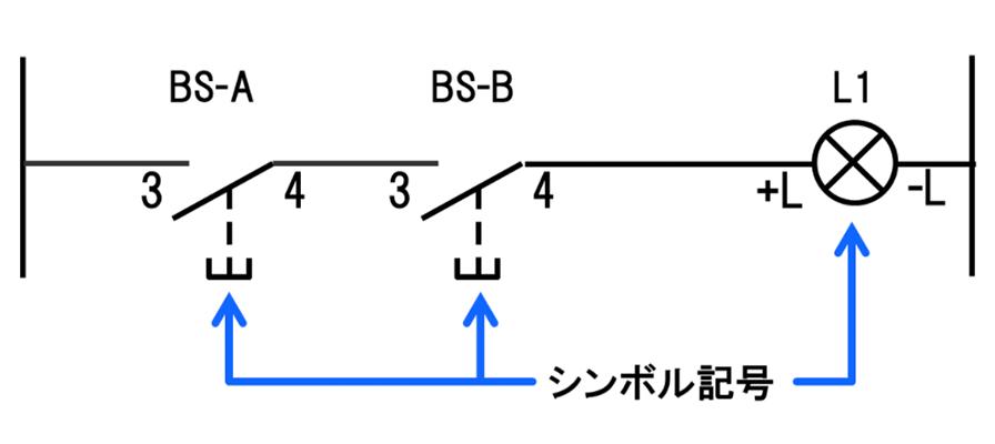 ラダー図の元になっているシーケンス回路図。