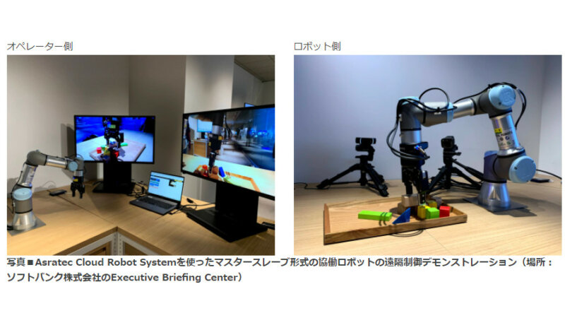アスラテック、クラウド型のロボット制御プラットフォーム「Asratec Cloud Robot System」を発表