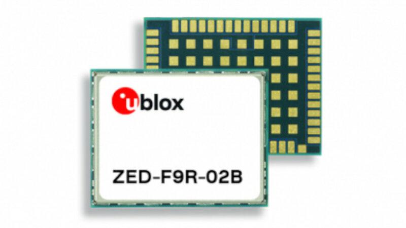ユーブロックス、センチメートル級の測位が可能なZED-F9R測位モジュールのファームウェア・アップデートをリリース