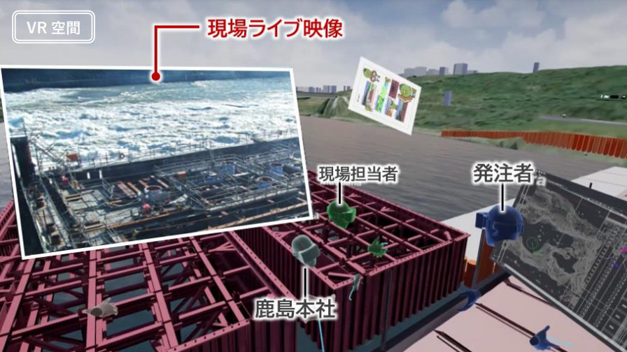 鹿島建設とリコー、VR空間を利用した「リコーバーチャルワークプレイス」を導入し現場遠隔管理に向けた取り組みを開始